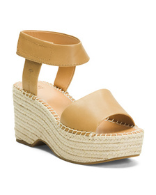 Espadrille Leather Wedge Sandals