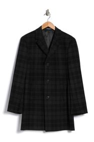 KENNETH COLE Rico Plaid Print Overcoat