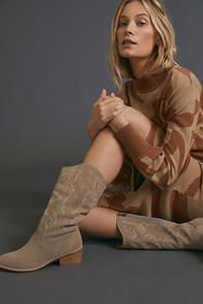 Anthropologie Silent D Zoelle Tall Western Boots