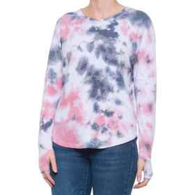 C&C California Tie-Dye Thumbhole Shirt - Long Slee