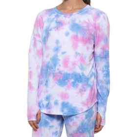 C&C California Bubblegum Tie Dye Thumbhole Shirt -