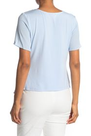 Vince Camuto Side Gathered Short Sleeve Blouse
