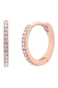 Savvy Cie 18K Rose Gold Plated Sterling Silver CZ