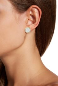 Savvy Cie Sterling Silver Black Mother of Pearl Ha