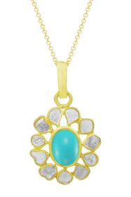 Savvy Cie 18K Gold Vermeil Sterling Silver Turquoi