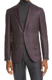 Ermenegildo Zegna Milano Easy Plaid Wool & Silk Sp