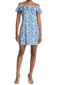 Tommy Bahama Off-the-Shoulder Ruffle Spa Dress