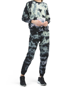 Madison Tie Dye Dropped Shoulder Pullover And Jogg
