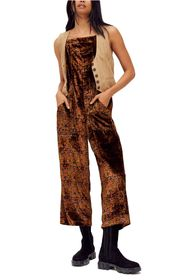 Free People Weekend Print Velvet Jumpsuit