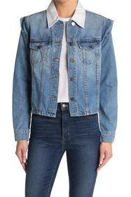 BALDWIN Avery Contrast Collar Denim Jacket