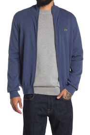 Lacoste Ribbed Knit Zip Sweater