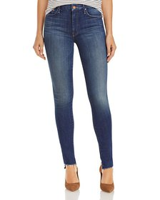 MOTHER - The Looker Step Hem Skinny Jeans in Skunk