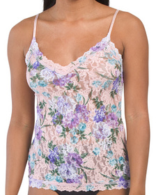 Made In Usa Ashley V-neck Lace Camisole
