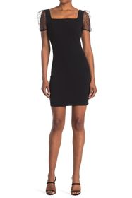 BCBGeneration Sheer Sleeve Bodycon Dress