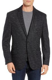 FLYNT Charcoal Two Button Notch Lapel Soft Knit Sp