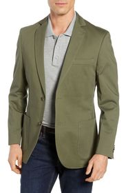 FLYNT Olive Solid Two Button Notch Lapel Regular F