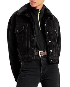 Levi's - New Heritage Faux Fur Lined Cord Trucker