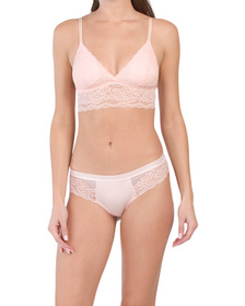 Longline Bralette And Lace Tanga Collection