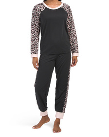 Lite Weight French Terry Inky Cheetah Lounge Set