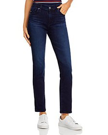 AG - High Rise Straight Leg Jeans in Dary Disarray