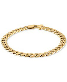 Curb Link Chain Bracelet in Yellow Ion-Plated Stai