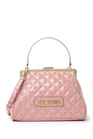 LOVE Moschino Quilted Single Top Handle Crossbody