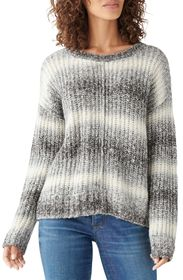 Lucky Brand Relaxed Space Dye Crewneck Cotton Blen
