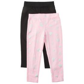 Girls (4-6x) Colette Lilly 2pk. Hearts Jeggings