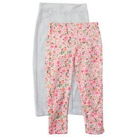 Girls (4-6x) Colette Lilly 2pk. Floral Jeggings