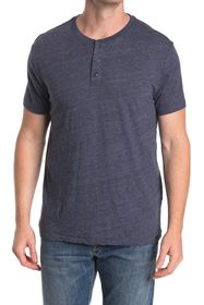Lucky Brand Short Sleeve Henley Top