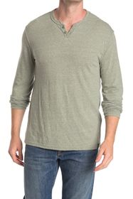 Lucky Brand Long Sleeve Notch Neck Top