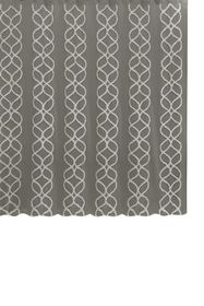 BCBG Interlocked Ogee Tufted Shower Curtain - Grey