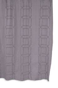 BCBG Clip Cube Tufted Shower Curtain - Lilac/Lilac