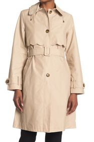 kate spade new york scalloped belted hood trench c