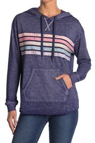 C & C California Washed Chest Stripe Hoodie