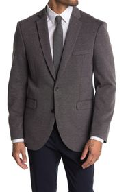 Vince Camuto Grey Solid Two Button Notch Lapel Spo