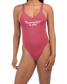 Made In Usa Leah One-piece Swimsuit