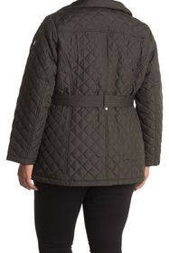 MICHAEL Michael Kors Belted Diamond Quilted Jacket