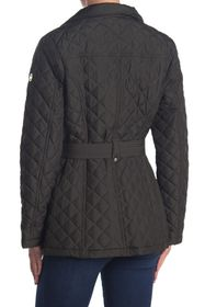 Michael Kors Belted Diamond Quilted Hooded Jacket