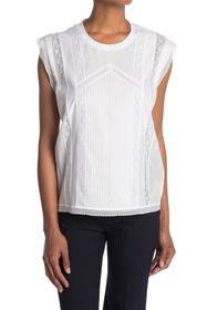 Burberry Lace Pleated Woven Top