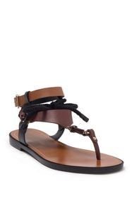 Sergio Rossi Buckle Thong Toe Bow Tie Sandal