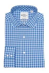 Ben Sherman Teal & Blue Diamond Dobby Gingham Dres