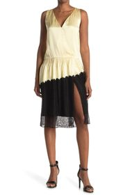 Burberry Lace Trimmed Asymmetrical Dress