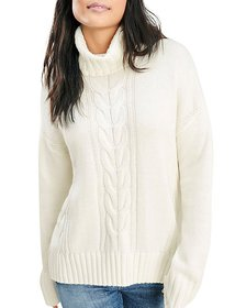 Splendid - Cable Knit Turtleneck Sweater