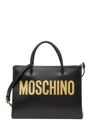 MOSCHINO Logo Leather Tote Bag