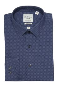 Ben Sherman Navy Tonal Floral Print Dress Shirt