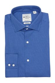Ben Sherman Royal Blue Dobby Check Dress Shirt