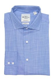 Ben Sherman Royal Slub End On End Dress Shirt
