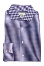 Ben Sherman Pink & Royal Blue Gingham Dress Shirt