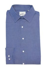 Ben Sherman Indigo Diamond Dobby Dress Shirt